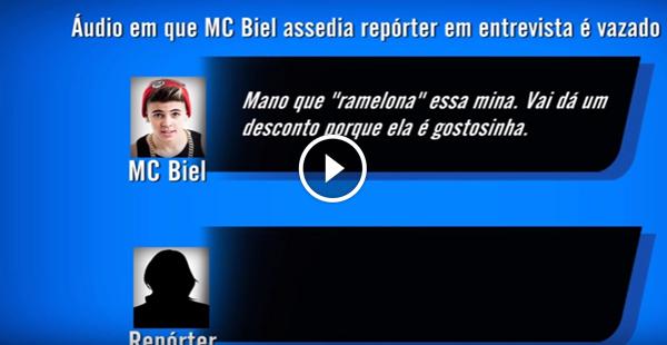 Vasa áudio de repórter sendo assediada por MC Biel