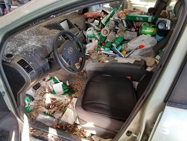Você acha que seu carro está sujo, então veja essas fotos!