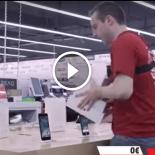 Um minuto pra pegar o que conseguir numa loja de eletrônicos