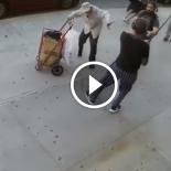 Adolescente ataca um senhorzinho sem motivos e a justiça das ruas age