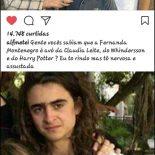 Fernanda Montenegro escondendo o neto famoso
