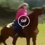 Quando você puxa as rédeas do cavalo, com muita força