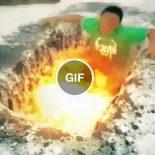 Quando você encontra a zona de lava nos túneis do Minecraft
