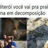 Acharam uma perna em decomposição na praia de Niterói