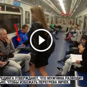 Feminista russa joga água com cloro na genital dos homens no metrô