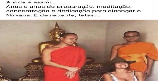 Esse monge precisa de mais treinamento