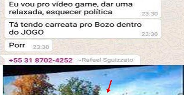 Fizeram uma carreata pro Bolsonaro em um jogo online