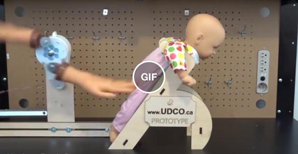 Robô arrotandor de bebê