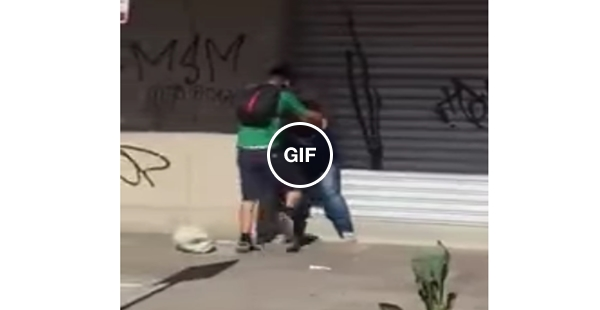 Foi bater na mulher e o karma pegou ele