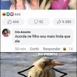 As mina que posta indireta