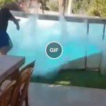 O curioso caso do homem que provocou um mini tsunami com sua piscina